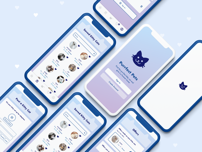 Purrfect Pets app ios ux ui kitty cats design