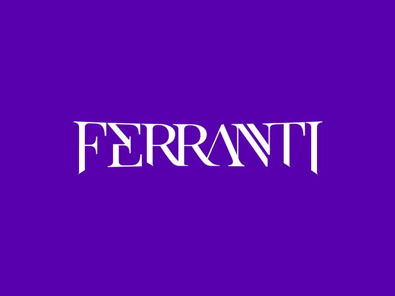 Ferranti Logo music brand type logo musician guitar player artist