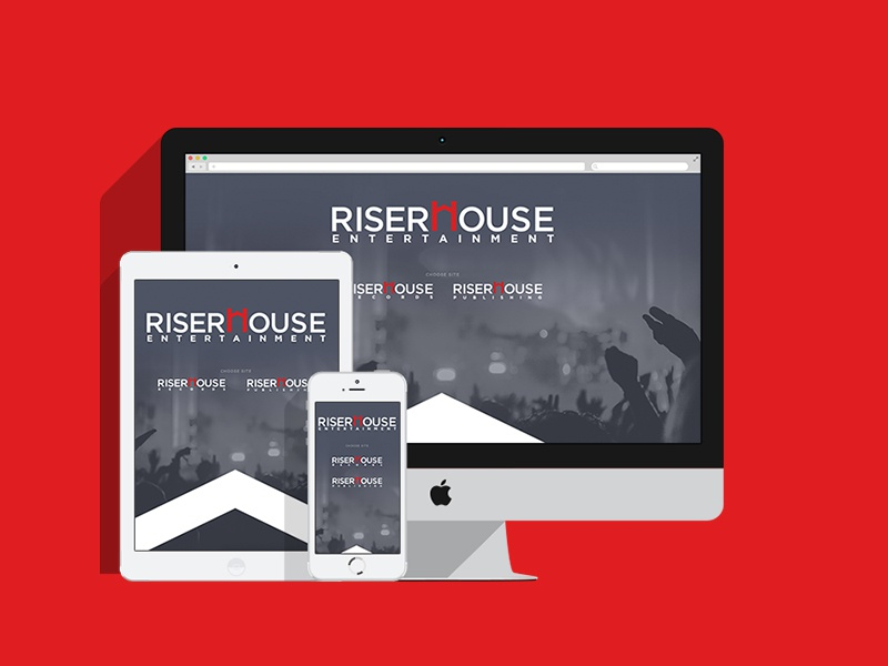 Riserhouse Entertainment Website digital web responsive music website