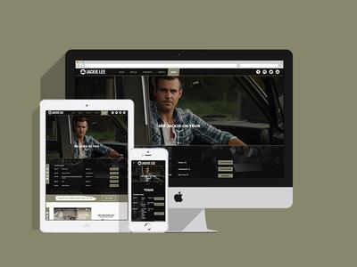 Jackie Lee Website digital web responsive music website