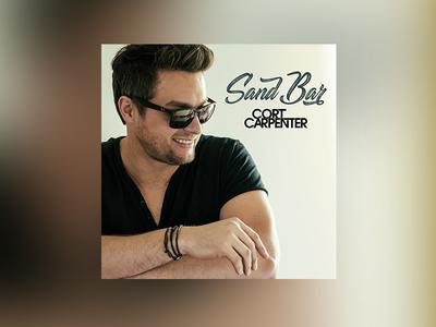 """Cort Carpenter """"Sand Bar"""" single graphic music album cover"""