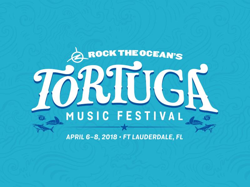Tortuga Music Festival 2018 Branding beach ocean fish tortuga festival music branding