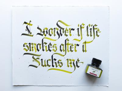 I Wonder if Like Smokes..