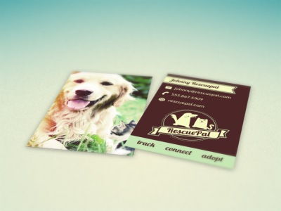 Rescuepal Business Cards dogs cats pets animals rescue business cards card