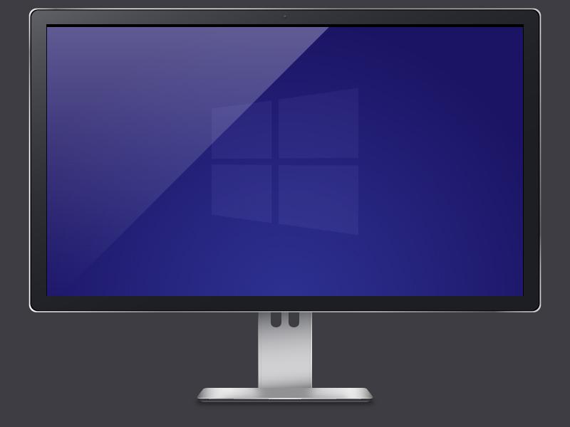 Display Freebie windows display monitor freebie ai illustrator hardware vector