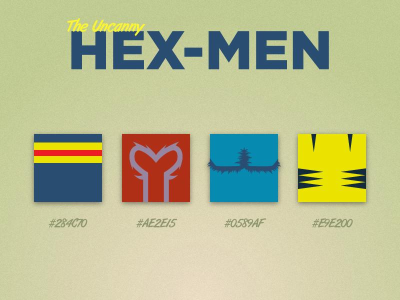 The Uncanny HEX-MEN hex x-men superheroes color palette illustration cyclops magneto beast wolverine comics