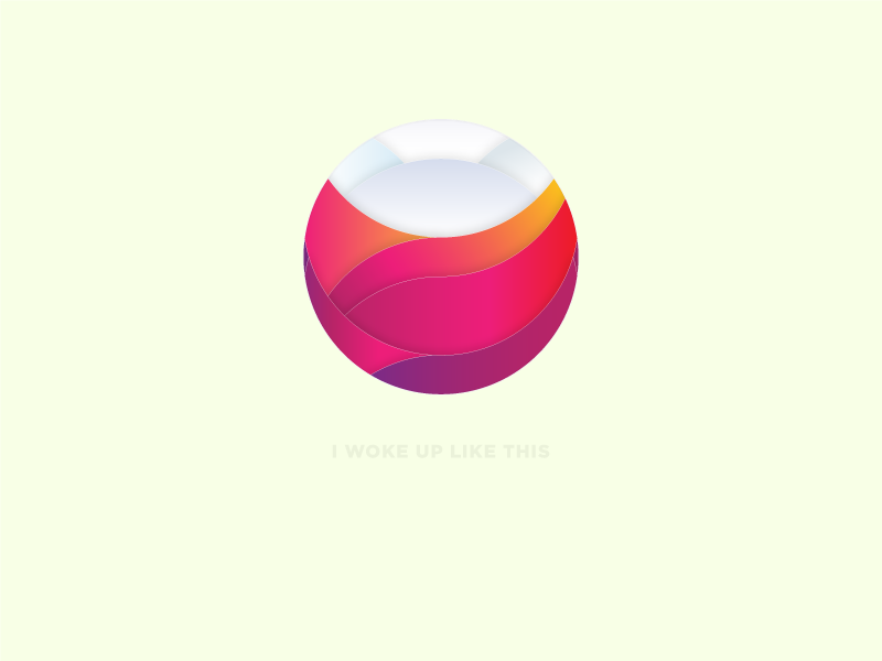 I woke up like this wallpaper desktop background beyonce gradient circle illustration morning sunrise