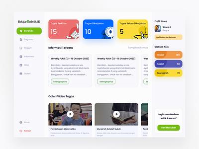 Belajar Holistik - Dashboard learning daring school online class class dashboard web clean design ui professional modern