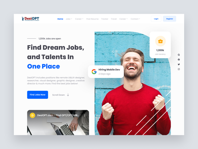 Redesign DesiOPT Website find job design ui professional modern