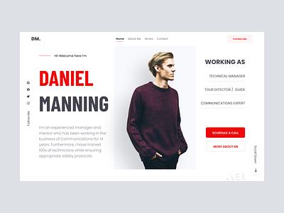 Web Portfolio Exploration people home page landing simple clean website profile portfolio web ux design ui professional modern