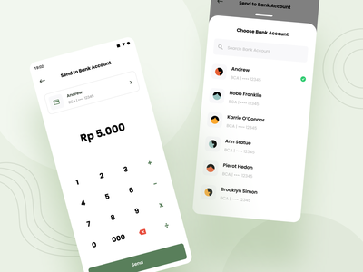 Send to Bank Account sheet bottom withdrawal withdraw account bank calculator transfer money screens screen clean ux design ui professional modern