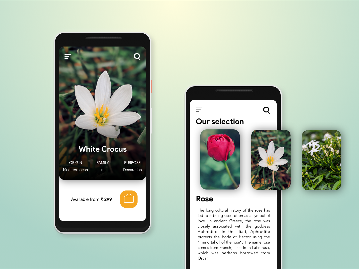 Flover: For lovers of flowers uidesign uiux design illustration app flower app