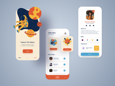 Job Requirement & Search Mobile App Design profiles profile mobile app mobile ui orange skills search requirements job illustration app design clean app uidesign concept ux ui graphic design dribbble