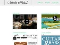 Alicia Hurst Rejected Portfolio Design 2