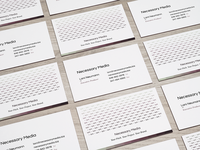 Unused business card design for Necessary Media