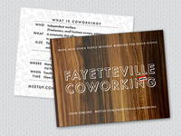Fayetteville Coworking Postcards