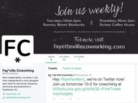 Fayetteville Coworking Twitter