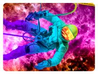 Astronaut Show Poster Design