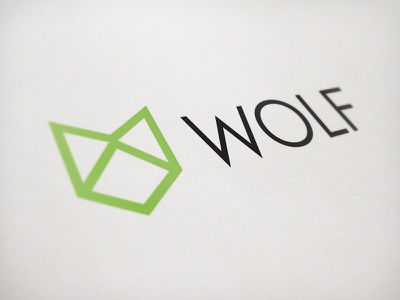 Wolf Logo wolf logo typography simple