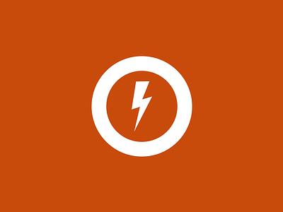 My Personal Logo logo lightning circle flat orange bold personal designer