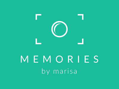 Memories By Marisa Logo photography proxima nova camera logo icon turquoise