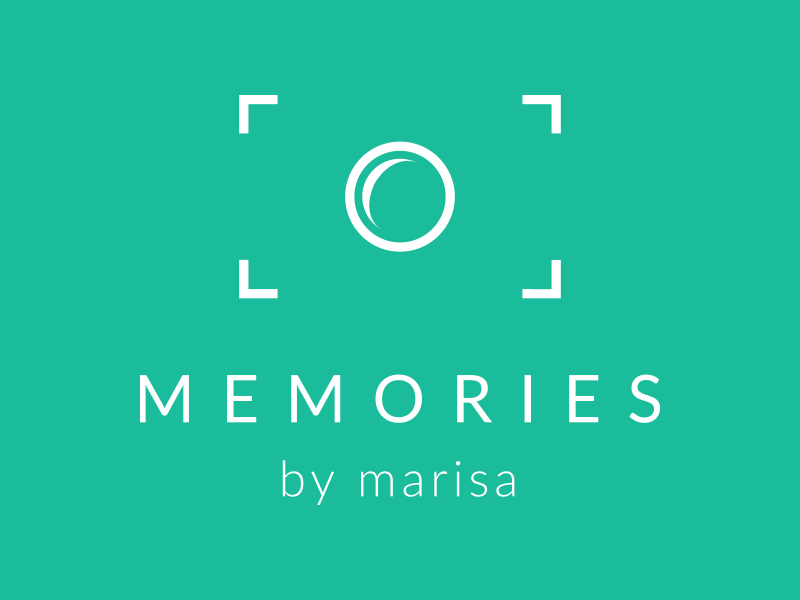 Memories By Marisa Logo photography proxima nova camera logo icon turquoise