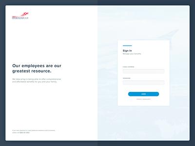 Login Screen proxima nova blue register sign up column form login
