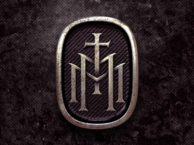 Monogram Badge metal monogram 3d