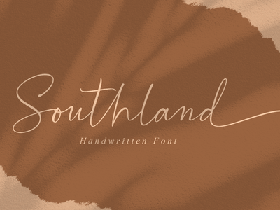 Southland | Modern Calligraphy posters logotype quotes logos branding packaging business card