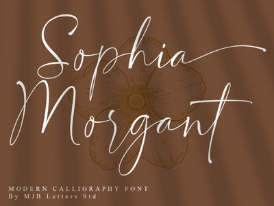 Sophia Morgant Modern Calligraphy fashion watermark magazines signature social media posts posters branding designs logotype logos calligraphy font