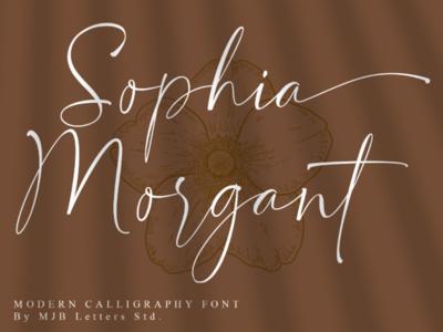 Sophia Morgant Modern Calligraphy fashion watermark magazines signature social media posts posters branding designs logotype logos calligraphy font