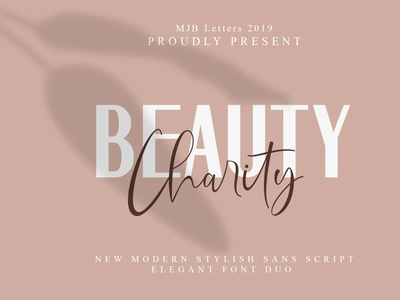 Beauty Charity Elegant Font Duo poster font design font business card packaging magazine logos branding script