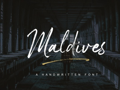 Maldives Handbrush Font logo packaging branding business card poster font