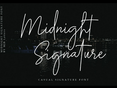 Midnight Signature Font special event wedding designs quotes social media posts posters magazine branding logos