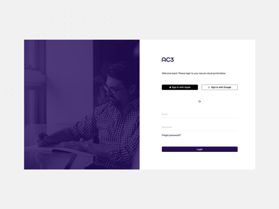 AC3 Login Page ui design design webapp design web application digital uidesign ui ux