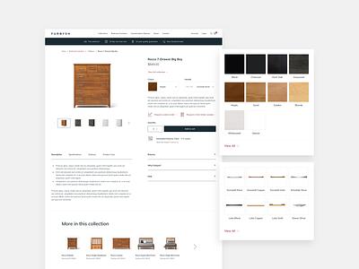 Furbysh - Detailed Product Selections ecommerce design ecommerce shopping furniture uxdesign ux ui design web design ui