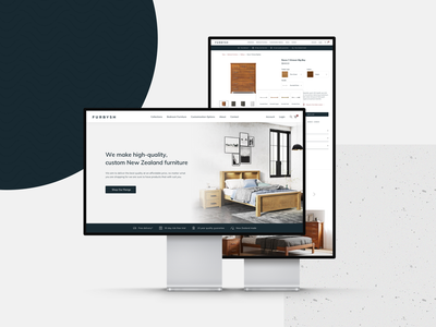 Furbysh Homepage clean ecommerce furniture web design uidesign uxdesign ux ui