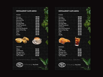 Digital Display Cafe Menu Design