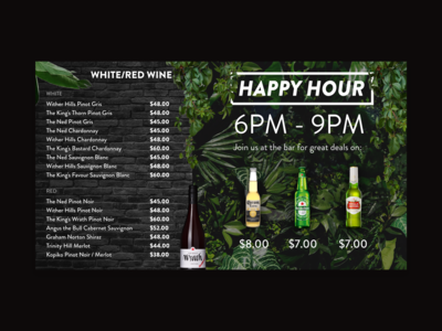 Digital Menu Board Design (Right)