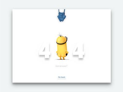 DailyUi #008 404 page  minions page 404 minimal interface ux dailyui clean ui design