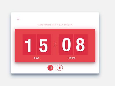 DailyUi #014 Countdown Timer 014 clock timer countdown timer minimal interface ux dailyui clean ui design