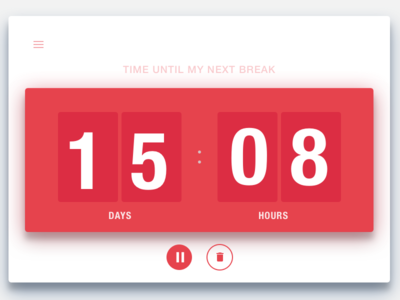 DailyUi #014 Countdown Timer 014 clock timer countdown timer minimal interface ux dailyui clean ui design