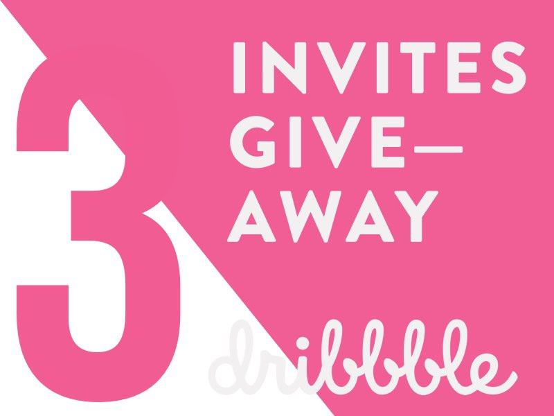 Dribbble giveaway
