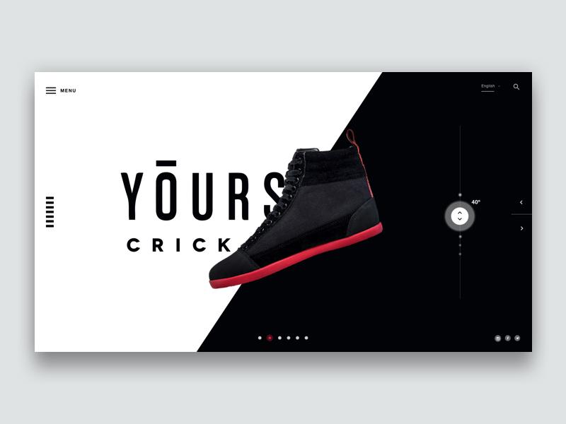 Shoe Profile website design web webdesign typography template simple profile portfolio minimal layout clean