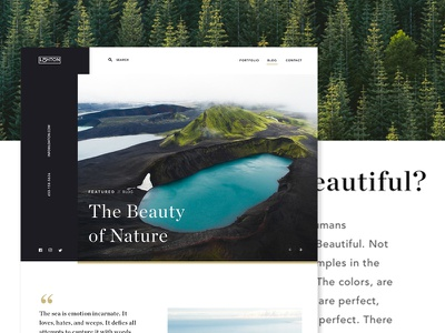 Blog page webpage webdesign blog web ui website simple landing typography