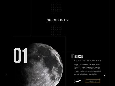 SPACED Homepage ux ui travel spacedchallenge spaced space fi sci saturn homepage design dark