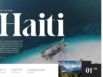 Travel Header island travel webdesign photo ui beach landing home design