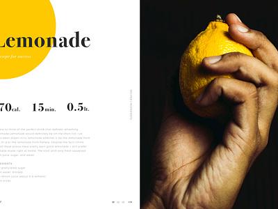 Recipes webdesign recipe ui lemon landing home design