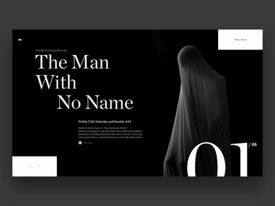 Type Exploration video typography typo player play header dark black