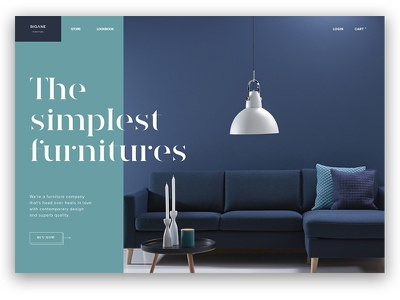 Type Exploration — 004 website furniture ux ui typography type product header layout landing clean